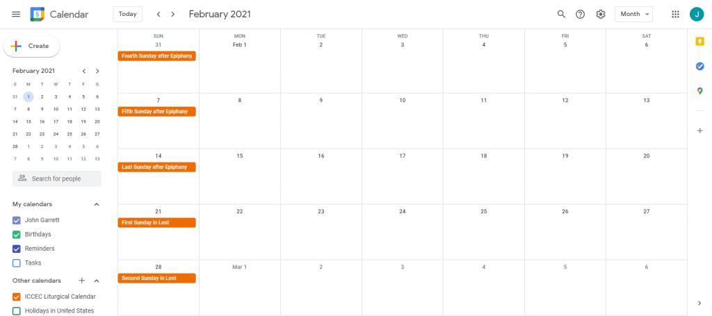 ICCEC Liturgical Google Calendar 3